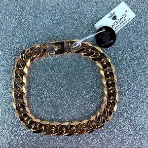 BlackJack Rose Stainless Steel Chain Bracelet
